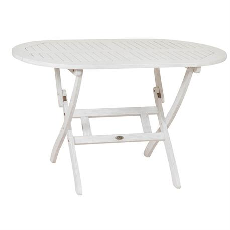Oval folding table 85x150 White