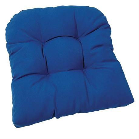 Thick blue cushion seat 47X47 cm