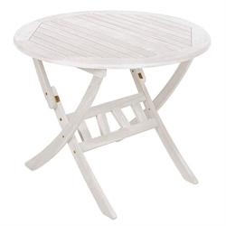 Round folding table 70 cm white