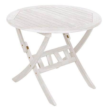 Τραπέζι στρογγυλό πτυσσόμενο 70εκ Λευκό