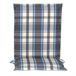 Cushion grey plaid low back no zipper 93 cm