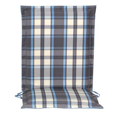 Cushion grey plaid low back no zipper 93 cm
