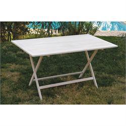 Rectangular folding table white patina 70Χ120 cm