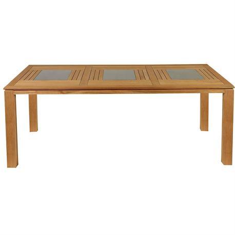 Rectangular table Teak 100X220 cm