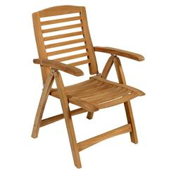 Folding armchair 5 positions Teak