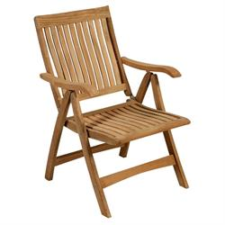Folding armchair 5 positions Teak