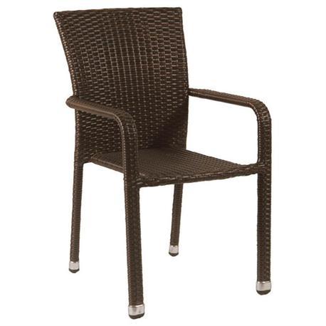 Stackable armchair Rattan