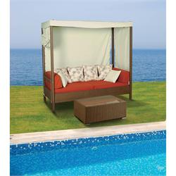 Coffee set 2 pcs Rattan with canopy