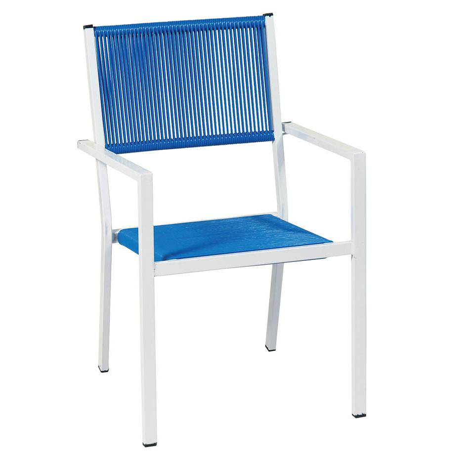 Stackable armchair white blue for Arm chair white