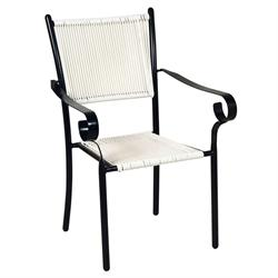 Stackable armchair black/white