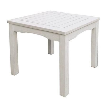 Τραπεζάκι βοηθητικό τετράγωνο Λευκό 50x50 εκ