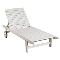 Reclining lounger White 197 cm