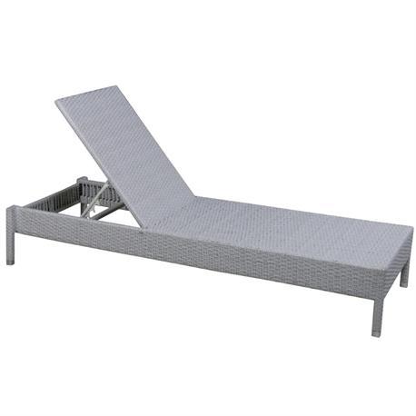 Sunbed Steel grey wicker