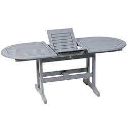 Τραπέζι οβάλ επεκτεινόμενο Γκρι 80x140+40 εκ