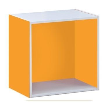 Cube orange 40X29 cm