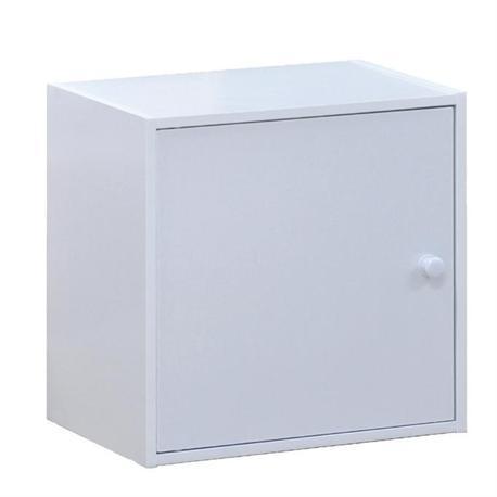 Cube with door white 40X29 cm