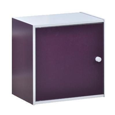 Cube with door purple 40X29 cm