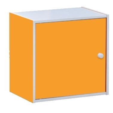 Cube with door orange 40X29 cm