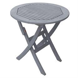 Τραπέζι στρογγυλό πτυσσόμενο Γκρι 70 εκ
