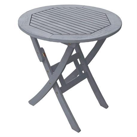 Round folding table Light gray 70cm