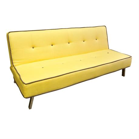 Sofa bed fabric yellow for Sofa bed yellow