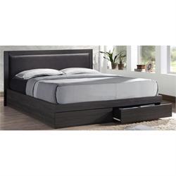 Bed with headboard PVC+drawers+ extra storage 171X206 cm