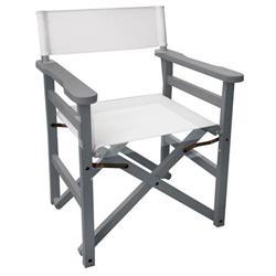 Directors folding armchair Light gray