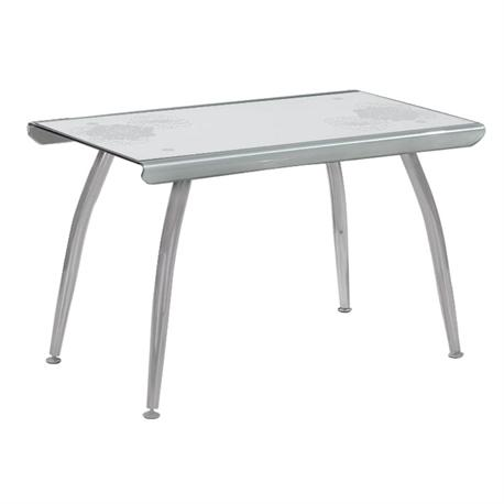 Table grey white glass 120Χ70 cm