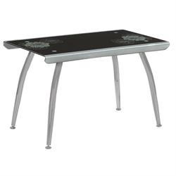 Table grey black glass 120Χ70 cm