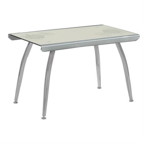 Table grey camel glass 120Χ70 cm