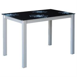 Τραπέζι γκρι μαύρο 110Χ70 εκ