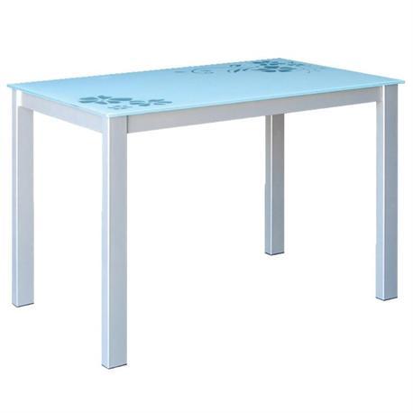 Τραπέζι γκρι άσπρο 110Χ70 εκ
