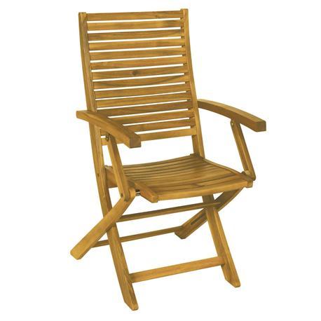 Folding armchair Acacia Wood