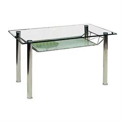 Table chromium-glass 110Χ65 cm