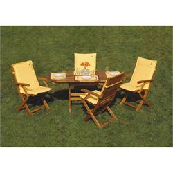 Τραπέζι οβάλ επεκτεινόμενο Ακακία 70x120+40 εκ