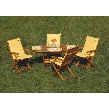 Extending oval table Acacia Wood 70x120+40 cm