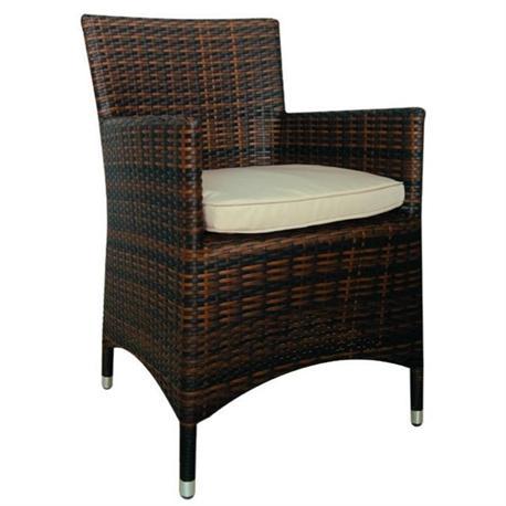 Stackable armchair brown