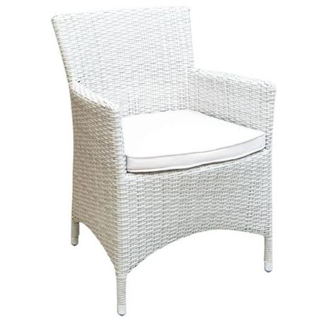 Stackable armchair white