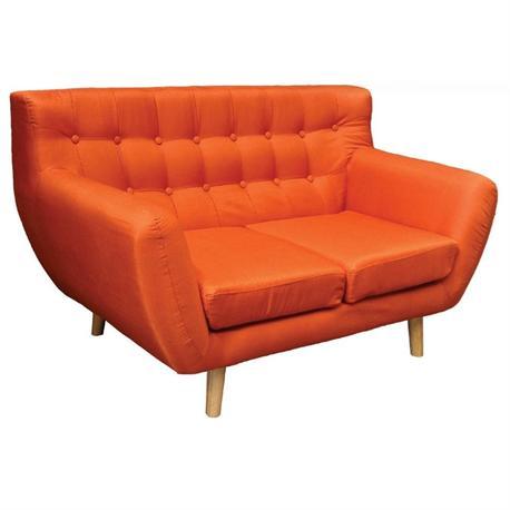 Sofa2 seats fabric orange