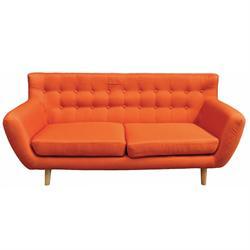 Καναπές 3θέσιος πορτοκαλί