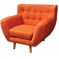 Armchair fabric orange