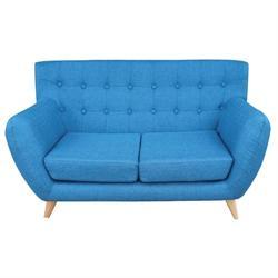 Sofa 2 seats fabric blue