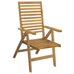 Folding armchair 5 positions Acacia Wood