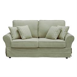 Sofa 3 seats fabric beige