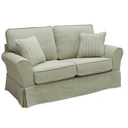 Sofa 2 seats fabric beige