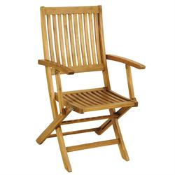 Folding armchair Acacia Wood