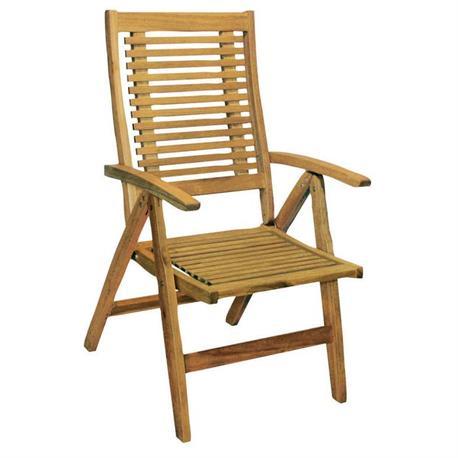 Folding armchair 5 positions Acacia Wood