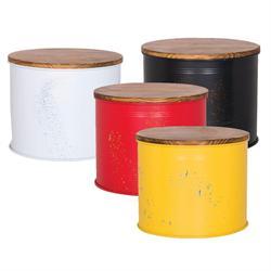 Storage table yellow