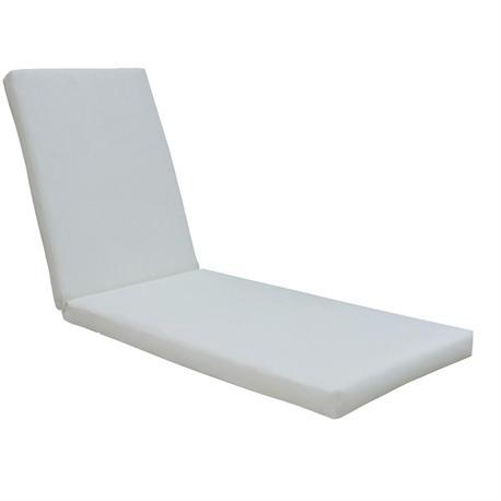 Cushion for lounger white PVC