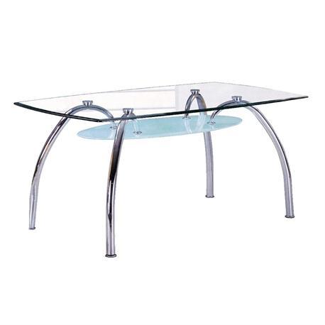 Τραπέζι χρώμιο-γυαλί 120Χ75 εκ